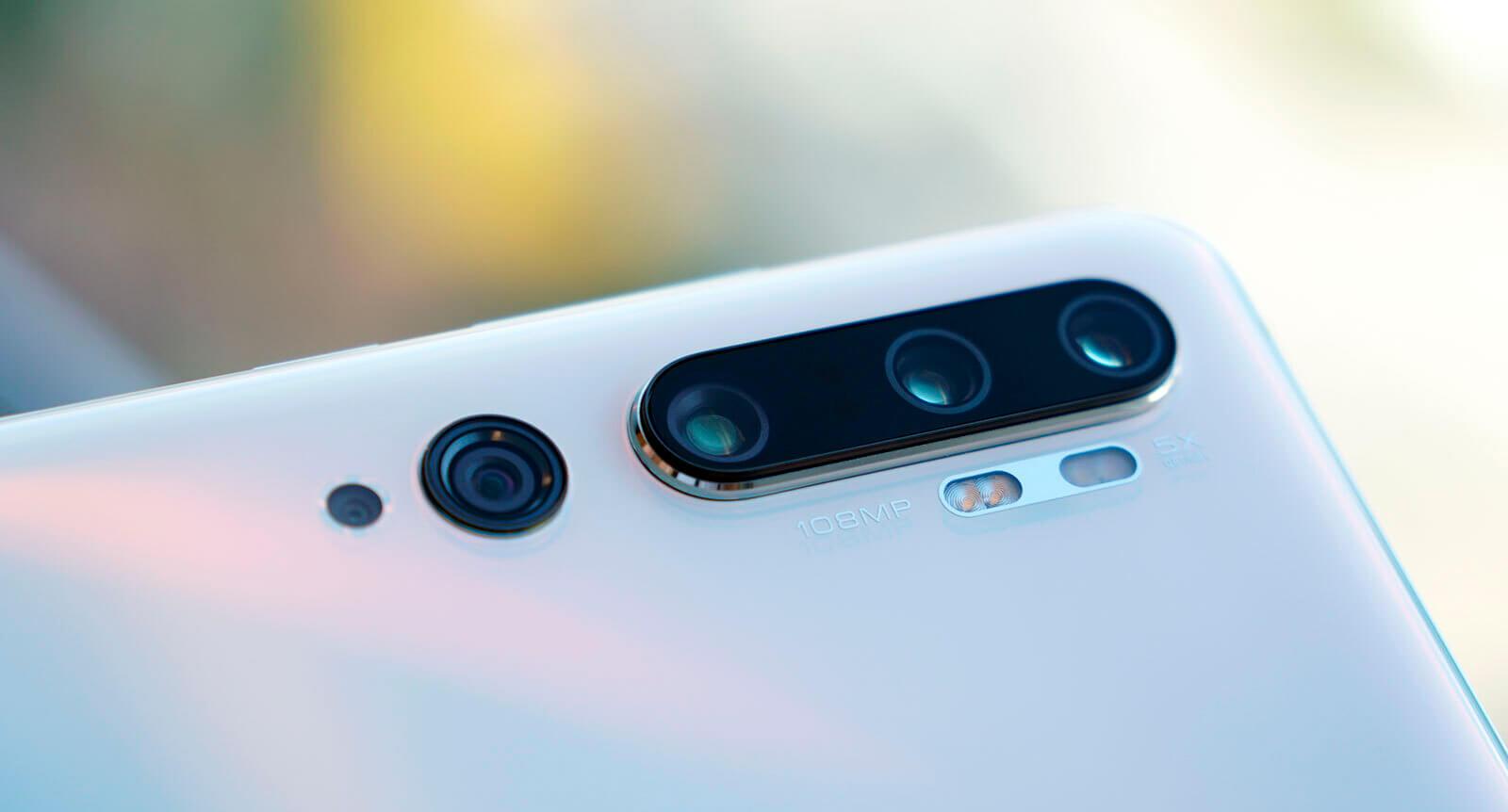 Cuatro cámaras de Xiaomi Mi Note 10